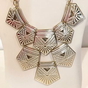 Large Gold and Cream Statement Necklace